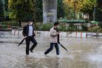 آبگرفتگی خیابانهای کرمانشاه در پی بارش باران