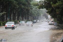 بارش شدید باران در کرج و آبگرفتگی معابر شهری