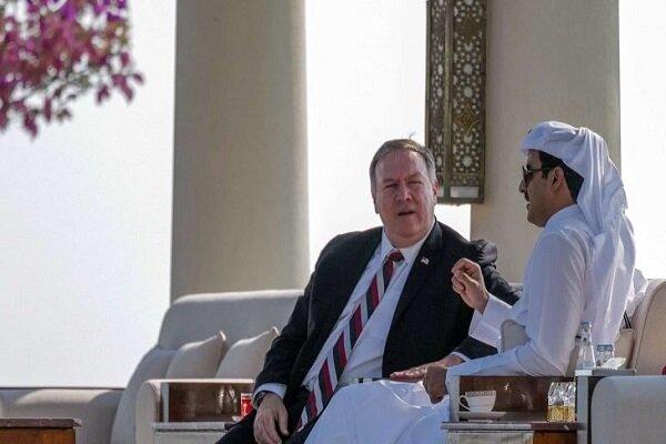 رایزنی امیر قطر با وزیر خارجه آمریکا در دوحه درباره تحولات منطقه