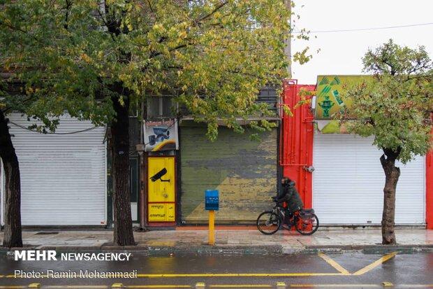 تعطیلی بازار و واحدهای صنفی زنجان در نخستین روز اجرای محدودیتهای کرونایی