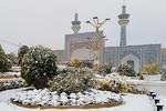 حرم رضوی میں برف باری اور بارش کے شاندار مناظر