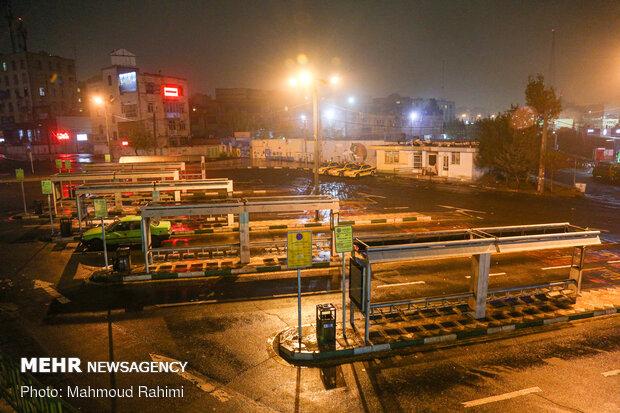 ایستگاه تاکسی صادقیه- ساعت 21:17