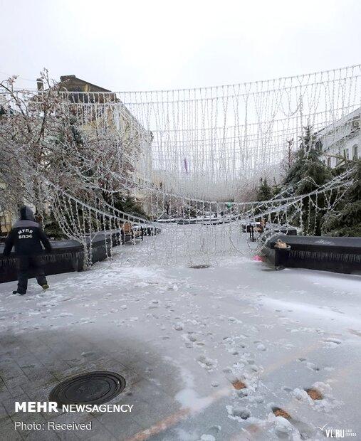 شرق روسیه یخ زد