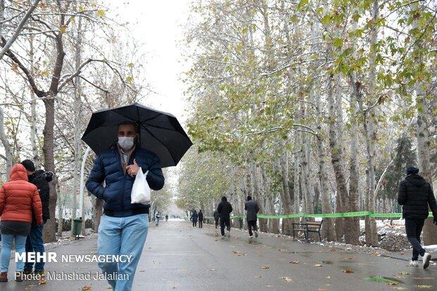 First autumn snow in Mashhad