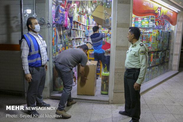 Ahvaz kentinde esnafa 'korona' denetimi