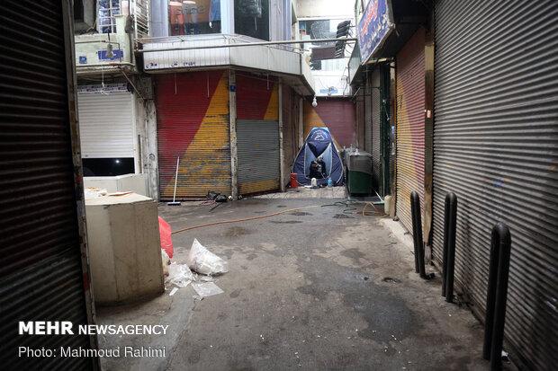 اجرای محدودیت های کرونایی در بازار تهران