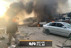 انفجار خودروی بمب گذاری شده در عفرین سوریه