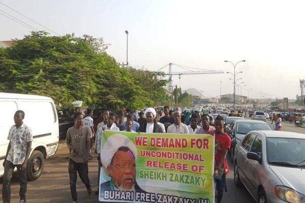 طرفداران شیخ زکزاکی تظاهرات اعتراضآمیزی در نیجریه برگزار کردند