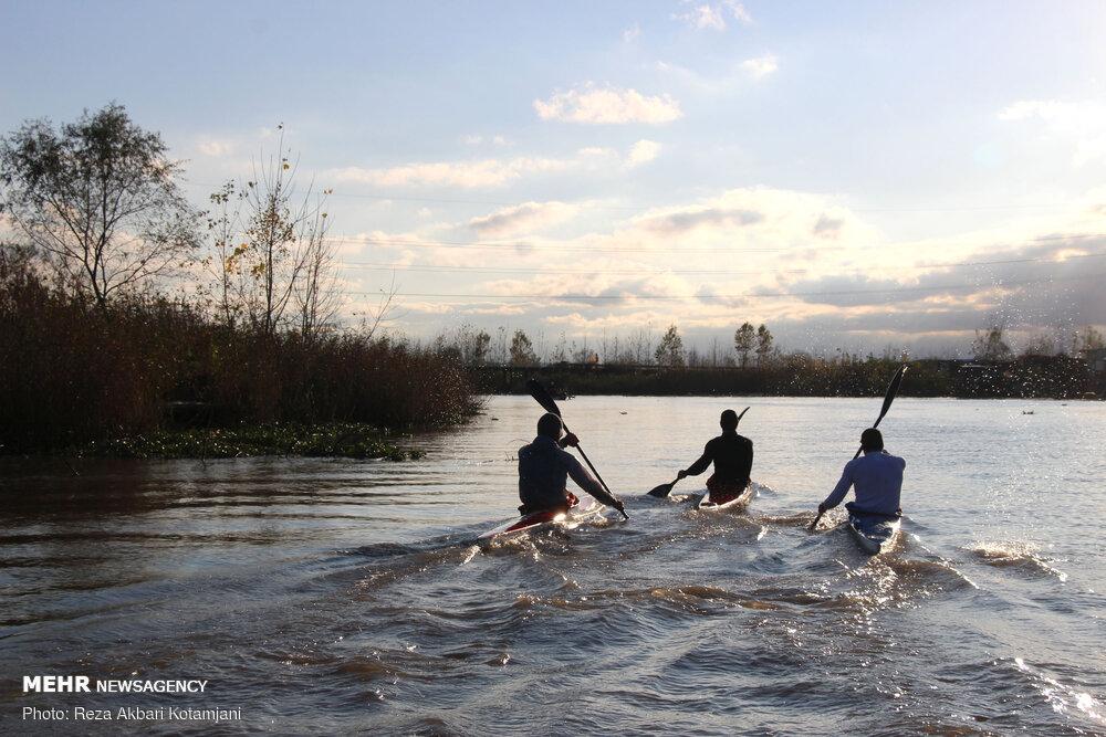 اردوی تیم ملی قایقرانی در انزلی