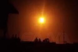 عدوان صهيوني يستهدف جنوب دمشق أسفر عن خسائر مادية