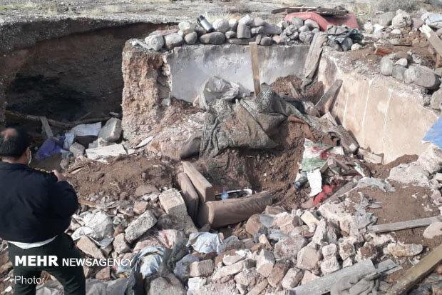 مرد متکدی در ایوانکی زیر آوار آلونک خودساخته دفن شد