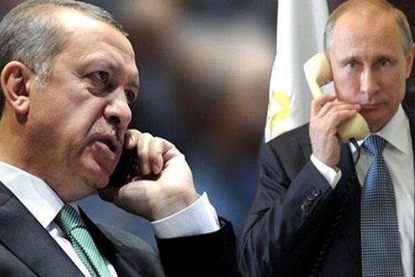 ترکی اور روس کےصدور کے درمیان ٹیلی فونک رابطہ