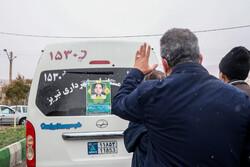 مراسم وداع با پیکر« عبدالرسول نایبی» شهید مدافع سلامت تبریز
