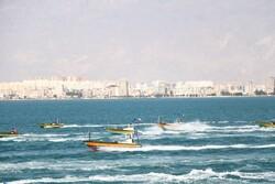 نمایش اقتدار بسیج دریایی منطقه یکم ندسا در آبهای خلیج فارس