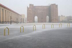 VIDEO: 1st winter snowfall in Tabriz