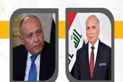 وزرای خارجه مصر و عراق درباره تحولات سوریه و لیبی گفتگو کردند