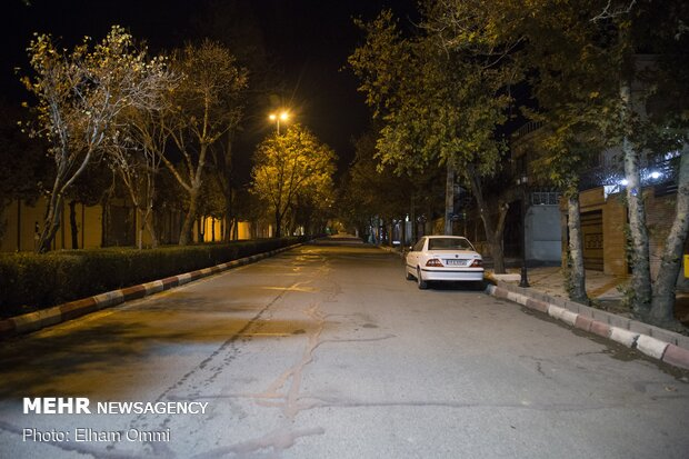 منع تردد COVID-19 lockdown in Iran's Sanandaj
