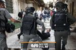 برخورد وحشیانه پلیس صهیونیستی با شهروندان برای نزدن ماسک