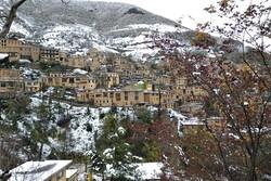 بارش ۱۰ سانتیمتری برف در شهر تاریخی ماسوله