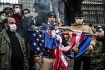 Tahran'da Şehit Fahrizade suikastı protesto edildi