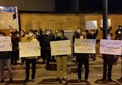 Tahran'da öğrenciler Şehit Fahrizade için toplandı