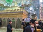 تشییع شهید فخریزاده در حرم حضرت معصومه(س)