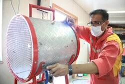 طراحی و ساخت دستگاه تخلیه دود توسط پرسنل آتش نشانی بندر چابهار