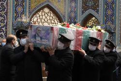 Martyr Fakhrizadeh funeral at Imam Reza Holy Shrine