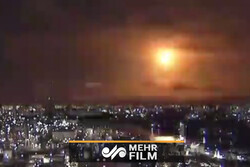 شی عجیب نورانی در آسمان ژاپن