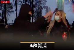 حمله به یک خبرنگار، حین پخش زنده