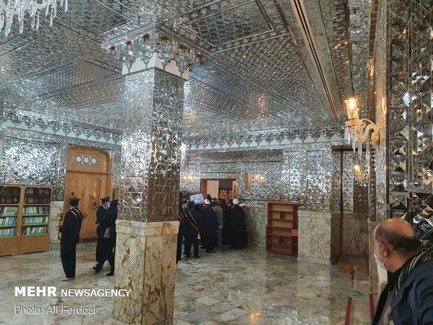Mart. Fakhrizadeh funeral process. in Hazrat Masoumeh shrine