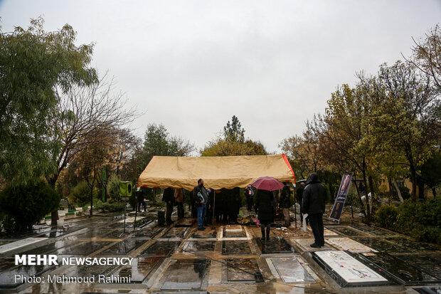 Funeral ceremony of veteran actor Parviz Pourhosseini