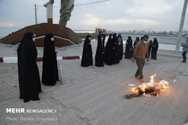İran'ın güneyinde Fahrizade suikastı protesto edildi