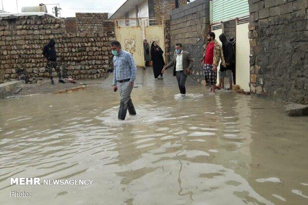 خسارت بارش سیلآسای باران و تگرگ به ۵۰ واحد مسکونی در اهر