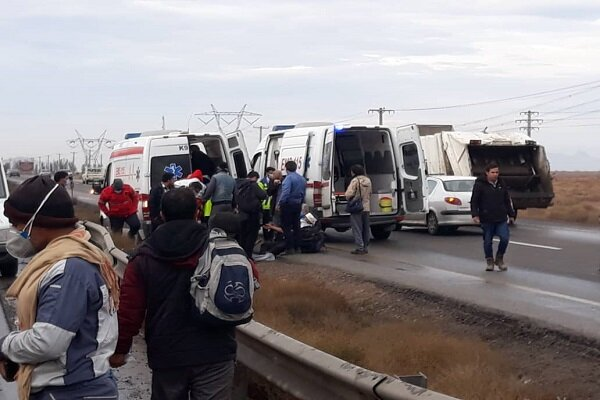 سانحه رانندگی در محور هریس- تبریز / ۷ نفر زخمی شدند