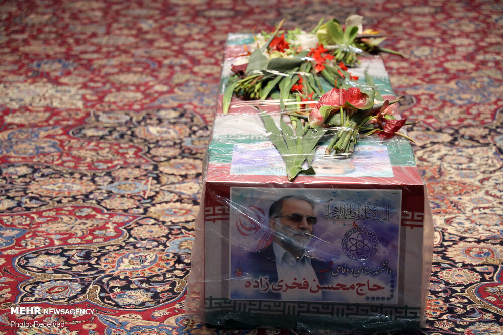 پیکر شهید «فخری زاده» در حرم امام خمینی(ره) تشییع شد