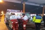 تصادف اتوبوس و کامیون در قزوین حادثه آفرید