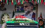 قرائت پیام رهبر معظم انقلاب در مراسم تشییع پیکر شهید فخری زاده