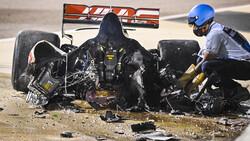 تصادف وحشتناک راننده فرمول یک در مسابقات بحرین