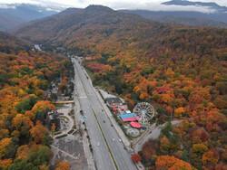 تصاویر هوایی جاده های پاییزی جنگل های هیرکانی