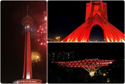 Tehran's iconic structures go red to mark World AIDS Day