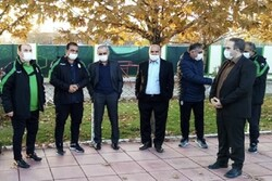 حضور سرپرست فدراسیون و عضو هیات رئیسه در تمرین تیم فوتبال جوانان