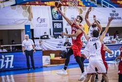 تیم ملی بسکتبال ایران برابر سوریه شکست خورد