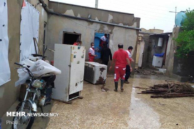 عملیات امداد و نجات به سیل زدگان در ۵ شهرستان هرمزگان انجام شد