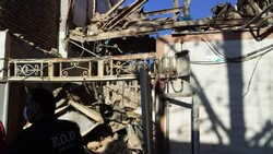 خرم آباد میں دھاکے سے ایک مکان تباہ ہوگیا