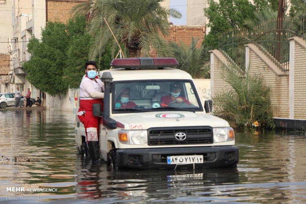 ۵۷۵۰ خانوار متأثر از باران در خوزستان امداد رسانی شدند