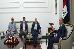 عراق کے صدر برہم صالح کی شہید فخری زادہ کے بہیمانہ قتل کی مذمت