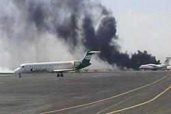Saudi coalition warplanes target Sanaa Intl. airport