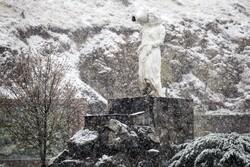 شہر کرد برف سے سفید پوش ہوگيا