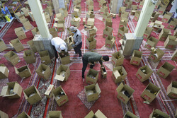 تہران میں مسجد صاحب الزمان (عج) میں امداد اور ہمدلی کے شاندار جلوے
